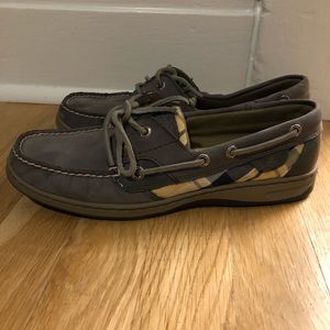 Grey Sperry Shoes
